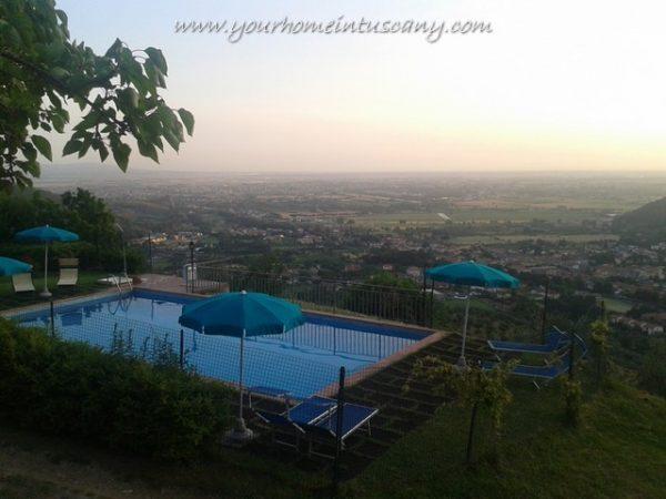 panoramic pool with sea views