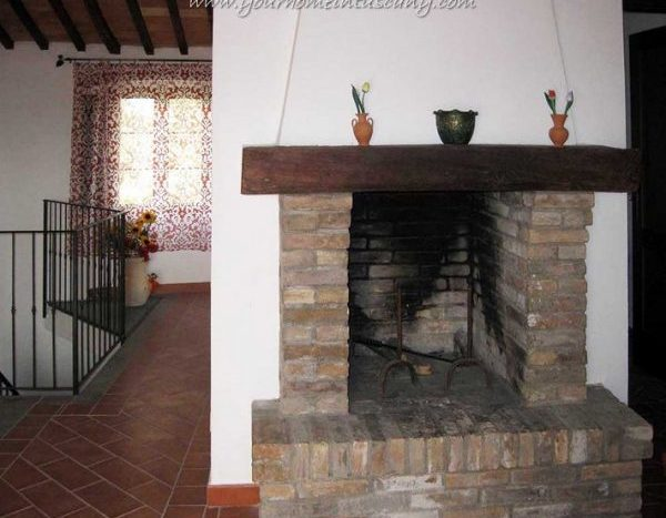 a fireplace in one of the units